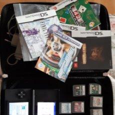 Videojuegos y Consolas: NINTENDO, CARGADOR, 8 JUEGOS Y FUNDA. Lote 224970382