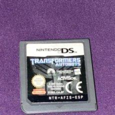 Videojuegos y Consolas: JUEGO NINTENDO DS TRANSFORMERS AUTOBOTS SOLO CARTUCHO PAL ESPAÑA. Lote 233702125