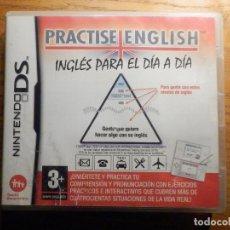 Videojuegos y Consolas: JUEGO NINTENDO DS - PRACTISE ENGLISH - INGLÉS PARA EL DÍA A DÍA - CON CAJA E INTSRUCCIONES. Lote 235376325