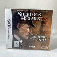 Videojuegos y Consolas: VIDEOJUEGO NINTENDO DS - SHERLOCK HOLMES - EL MISTERIO DE LA MOMIA + CAJA + INSTRUCCIONES. Lote 237262535