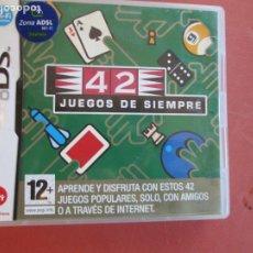 Videojuegos y Consolas: NINTENDO DS - 42 JUEGOS DE SIEMPRE CON INSTRUCCIONES. Lote 239780100