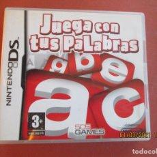 Videojuegos y Consolas: NINTENDO DS - JUEGA CON TUS PALABRAS - CON INSTRUCCIONES. Lote 239781930
