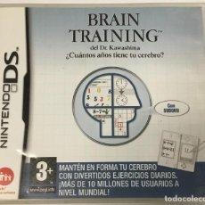 Videojuegos y Consolas: JUEGO BRAIN TRAINING – NINTENDO DS – (+3 AÑOS). Lote 242108035
