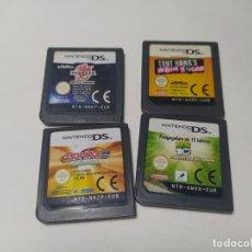 Videojuegos y Consolas: LOTE/ PACK 4 JUEGOS ( NINTENDO DS - 3DS - PAL - ESP) SOLO EL CARTUCHO. Lote 245094490