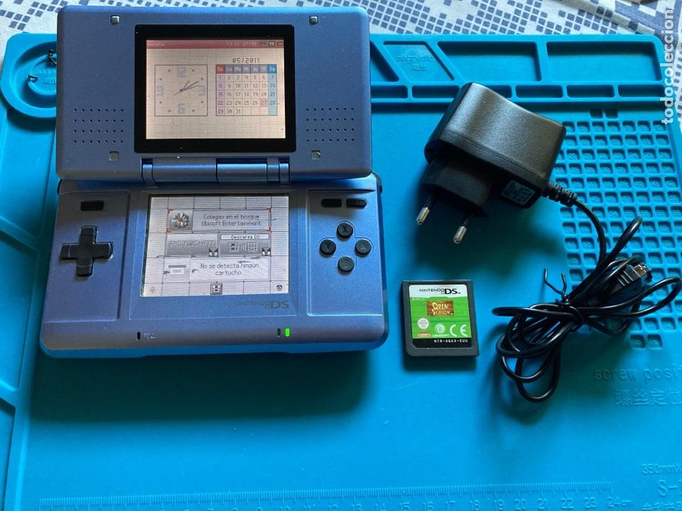 CONSOLA NINTENDO DS ORIGINAL AZUL + CARGADOR + JUEGO (Juguetes - Videojuegos y Consolas - Nintendo - DS)