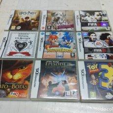 Videojuegos y Consolas: LOTE 9 CAJAS VACIAS JUEGOS NINTENDO DS. MARIO Y SONIC HARRY POTTER FIFA TOY STORY STAR WARS..... Lote 253275645