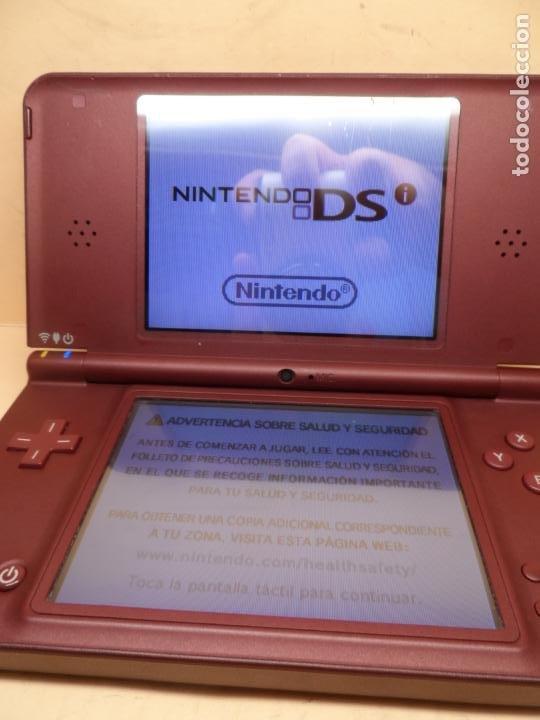 Videojuegos y Consolas: CONSOLA NINTENDO DSI XL BUNGURDY (RED WINE) + CARGADOR - Foto 3 - 253701775