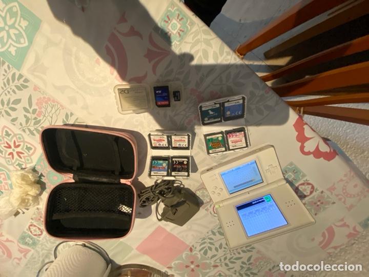 CONSOLA NINTENDO DS COMPLETA CON 8 JUEGOS TARGETAS CARGADOR CARTUCHERA.VER FOTOS (Juguetes - Videojuegos y Consolas - Nintendo - DS)