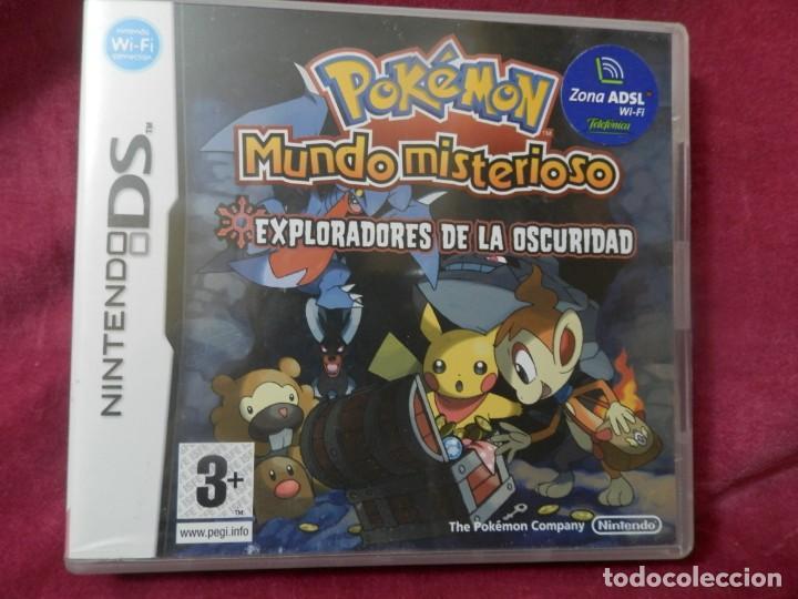 CAJA CON INSTRUCIONES DE JUEGO NINTENDO DS. POKEMON MUNDO MISTERIOSO. EXPLORADORES DE LA OSCURIDAD (Juguetes - Videojuegos y Consolas - Nintendo - DS)