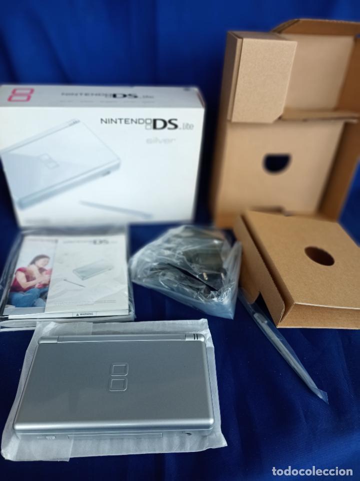 Videojuegos y Consolas: Nintendo DS Lite Silver Plata Nueva A Estrenar new - Foto 10 - 257951350