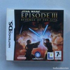 Videojuegos y Consolas: NINTENDO DS STAR WARS EPISODE 3 REVENGE OF THE SITH - SOLO CAJA Y MANUAL. Lote 262289700