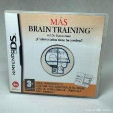 Videojuegos y Consolas: VIDEOJUEGO NINTENDO DS - MÁS BRAIN TRAINING + INSTRUCCIONES + CAJA - EUR. Lote 262884875