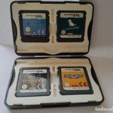 Videojuegos y Consolas: ESTUCHE CON 4 JUEGOS NINTENDO DS. Lote 264786429
