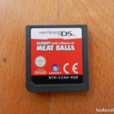Videojuegos y Consolas: NINTENDO DS - CLOUDY WITH A CHANCE OF MEAT BALLS - CARTUCHO DEL JUEGO - EUROPA.. Lote 266509233