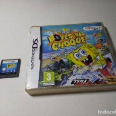 Videojuegos y Consolas: BOB ESPONJA - BOTES DE CHOQUE ( NINTENDO DS - PAL - ESP). Lote 268878064