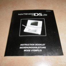 Videojuegos y Consolas: INSTRUCCIONES CONSOLA NINTENDO DSI. Lote 269141283