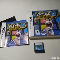 Videojuegos y Consolas: RAYMAN RAVING RABBIDS TV ( NINTENDO DS - 3DS - PAL - ESP). Lote 269816173