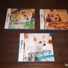 Videojuegos y Consolas: 3 JUEGOS PARA NINDENDO DS ORIGINAL DE JAPON- NINTENDO DS NINTENDOGS 3 SET SHIBA DACHSHUND CHIHUAHUA. Lote 273753198