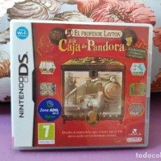 Videojuegos y Consolas: JUEGO NINTENDO DS EL PROFESOR LAYTON Y LA CAJA DE PANDORA. Lote 286842608