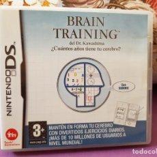 Videojuegos y Consolas: JUEGO NINTENDO DS ¿CUANTOS AÑOS TIENE TU CELEBRO? BRAIN TRAINING. Lote 286843943