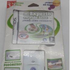 Videojuegos y Consolas: PACK JUEGO NINTENDO DS DE JUEGO MI EXPERTO EN VIDA SANA+ PODÓMETRO. Lote 289462638