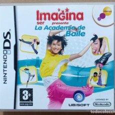 Videojuegos y Consolas: IMAGINA SER PRESENTA LA ACADEMIA DE BAILE - JUEGO NINTENDO DS UBISOFT MANUAL DE INSTRUCCIONES. Lote 290480013