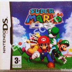Videogiochi e Consoli: NINTENDO DS -SUPER MARIO 64 DS CAJA VACIA CON LAS INSTRUCIONES SIN JUEGO. Lote 290699133