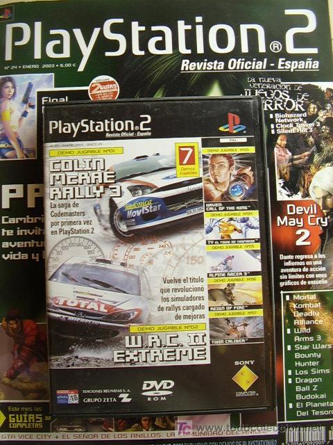 REVISTA PLAYSTATION2 Nº 24, ENERO 2003. INCLUYE DVD CON 7 DEMOS JUGABLES. (Juguetes - Videojuegos y Consolas - Sony - PS1)