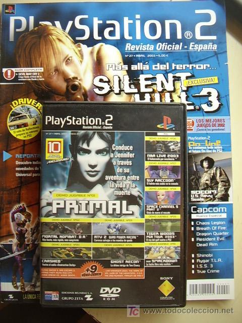 REVISTA PLAYSTATION2 Nº 27, ABRIL 2003. INCLUYE DVD CON 10 DEMOS JUGABLES. (Juguetes - Videojuegos y Consolas - Sony - PS1)