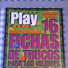 Videogiochi e Consoli: GUÍA TRUCOS PLAY STATION PLAYSTATION SONY FICHAS JUEGOS VIDEOJUEGOS PLAY MANIA. Lote 26605029