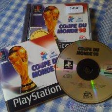 Videojuegos y Consolas: COUPE DU MONDE COPA DEL MUNDO 98 SONY PLAY STATION PLAYSTATION PS1 PAL COMPLETO VERSIÓN FRANCESA. Lote 27393316