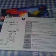 Videojuegos y Consolas: DOCUMENTACIÓN CONSOLA SONY PLAYSTATION PS1 PSONE PAL PLAY STATION INSTRUCCIONES LIBRO MANUAL USUARIO. Lote 29537115