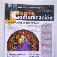 Videojuegos y Consolas: REVISTA JUEGOS PUNTO COMUNICACION Nº 33 - JULIO 2002 -EL PRODUCTO DEL E3 PARA CONSOLAS,ETC. - 32 PGS. Lote 29886896