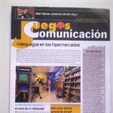 Videojuegos y Consolas: REVISTA JUEGOS PUNTO COMUNICACION Nº 39 - ENERO 2003 - VIDEOJUEGOS EN LOS HIPERMERCADOS,ETC - 32 PGS. Lote 29886922