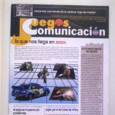 Videojuegos y Consolas: REVISTA JUEGOS PUNTO COMUNICACION Nº 50 - DICIEMBRE 2003 - NOVEDADES 2004: GT 4,DRIVER 3,DOOM 3,ETC.. Lote 29886976