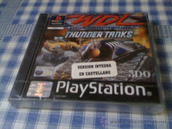 WORLD DESTRUCTION LEAGUE THUNDER TANKS PARA SONY PLAYSTATION 1 PS1 Y 2 PAL JUEGO COMPLETO NUEVO (Juguetes - Videojuegos y Consolas - Sony - PS1)