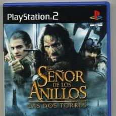 Videojuegos y Consolas: PLAY STATION 2 - EL SEÑOR DE LOS ANILLOS - LAS DOS TORRES - CON MANUAL. Lote 30643933