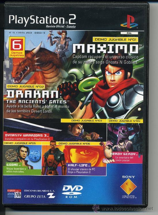 PLAY STATION 2 - MAXIMO - DRAKAN - DVD-ROM - DEMOS JUGABLES (Juguetes - Videojuegos y Consolas - Sony - PS1)