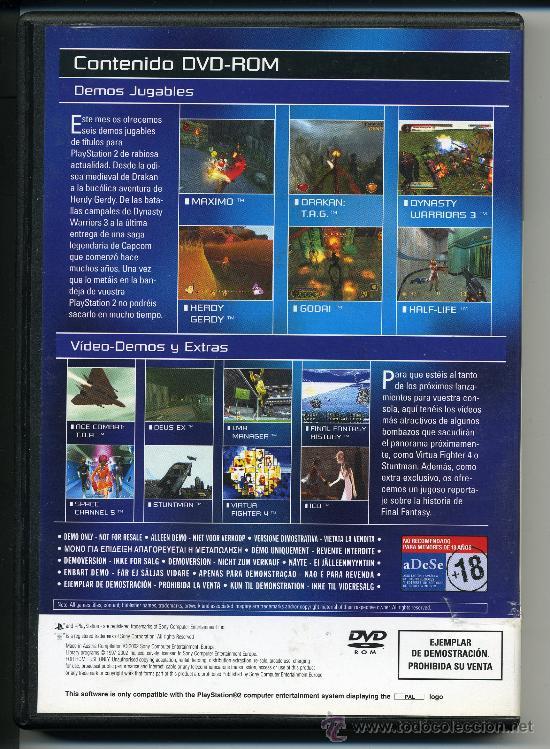 Videojuegos y Consolas: PLAY STATION 2 - MAXIMO - DRAKAN - DVD-ROM - DEMOS JUGABLES - Foto 2 - 30652741