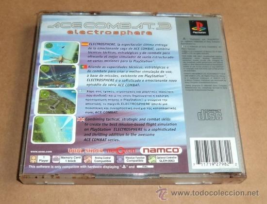 Videojuegos y Consolas: Ace Combat 3 : Electrosphere para Sony Playstation, Pal - Foto 2 - 33583187