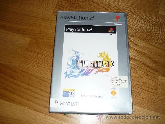 JUEGO PLAY STATION 2 FINAL FANTASY X PLATINUM PAL MANUAL (Juguetes - Videojuegos y Consolas - Sony - PS1)
