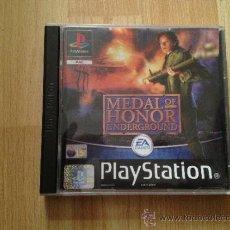 Videojuegos y Consolas: JUEGO PSX PLAYSTATION 1 MEDAL OF HONOR UNDERGROUND. Lote 65910934