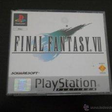 Videojuegos y Consolas: PLAY STATION : JUEGO FINAL FANTASY VII PLATINUM SQUARESOFT AÑO 1994 PAL. Lote 294102833