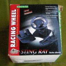 Videojuegos y Consolas: VOLANTE PLAYSTETION 1 STING RAY TURBO SHOCK EN SU CAJA ORIGINAL.-. Lote 39477281