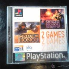 Videojuegos y Consolas: MEDAL OF HONOR - PACK 2 JUEGOS - PLAYSTATION 1 Y 3 - 2 DISCOS. Lote 46675750