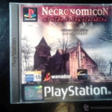 Videojuegos y Consolas: NECRONOMICON , EL ALBA DE LAS TINIEBLAS - JUEGO PS1 Y PS3 - 2 DISCOS. Lote 46675903