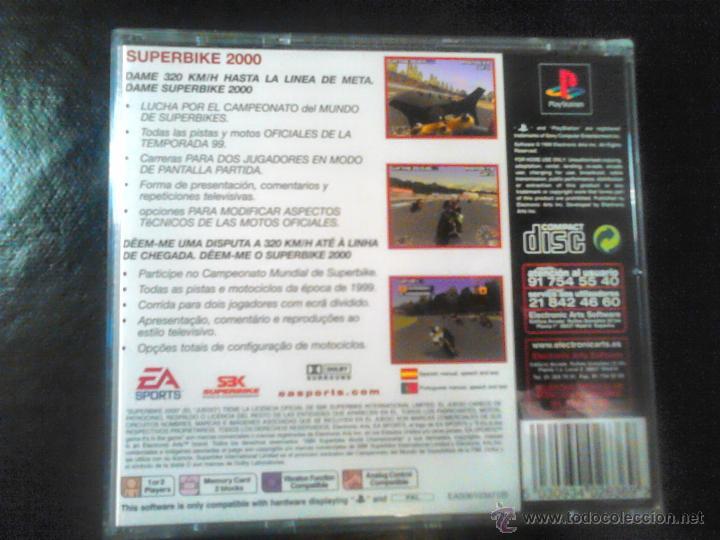 Videojuegos y Consolas: SUPERBIKE 2000 - JUEGO DE PLAYSTATION 1 Y 3 - EA sports - Foto 3 - 46676056