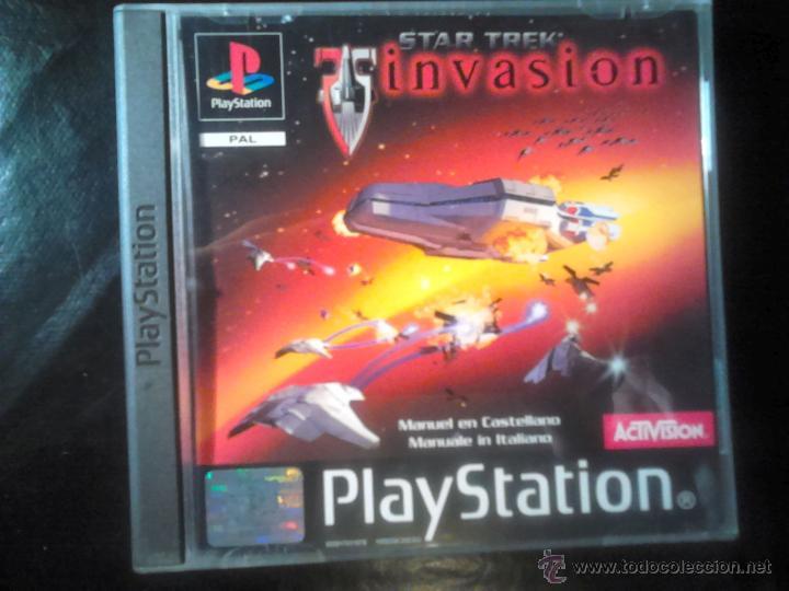 STAR TREK , INVASION - JUEGO PLAYSTATION 1 Y 3 (Juguetes - Videojuegos y Consolas - Sony - PS1)