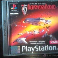 Videojuegos y Consolas: STAR TREK , INVASION - JUEGO PLAYSTATION 1 Y 3. Lote 46676120