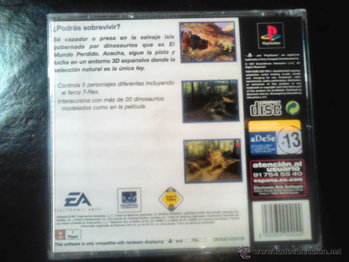 Videojuegos y Consolas: EL MUNDO PERDIDO , JURASSIC PARK - JUEGO DE PLAYSTATION 1 y 3 - Foto 2 - 46676495